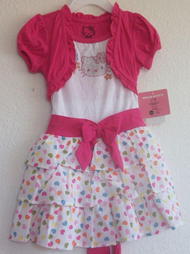Hello Kitty Kids Dress, Little Girls Ruffled Dress