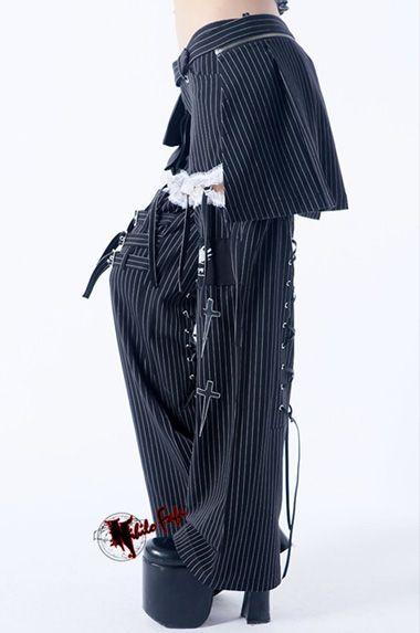 New girls Goth PUNK visual kei Rock belt trousers pants