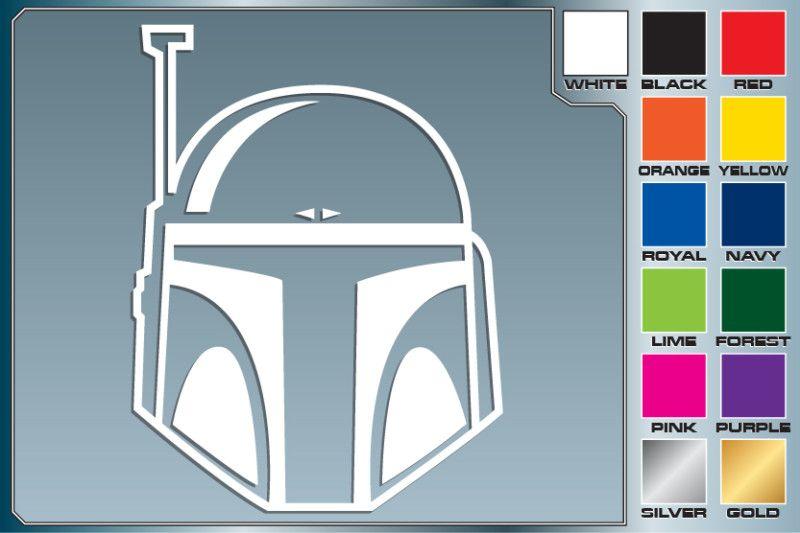 Star Wars BOBA FETT HELMET cut vinyl decal #1 Jango