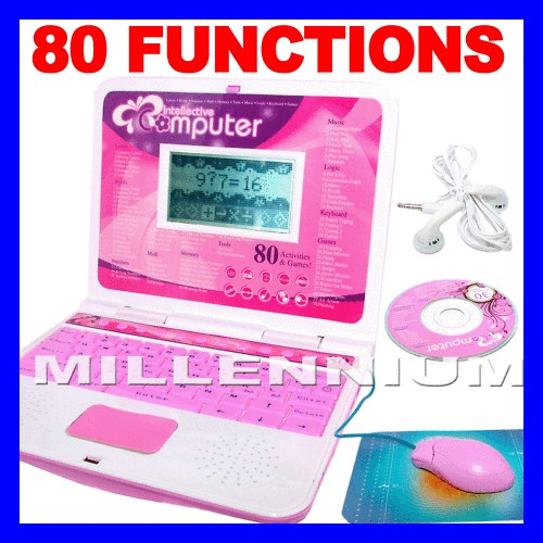 PINK CHILDRENS EDUCATIONAL LAPTOP NETBOOK COMPUTER TOY