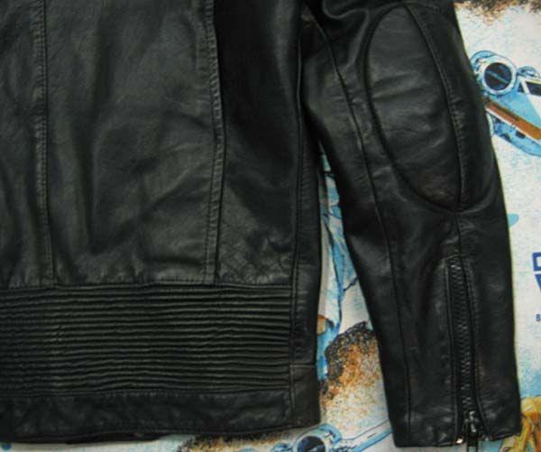 vtg AMF Harley Davidson BLACK LEATHER Motorcycle JACKET Mens M MED 40