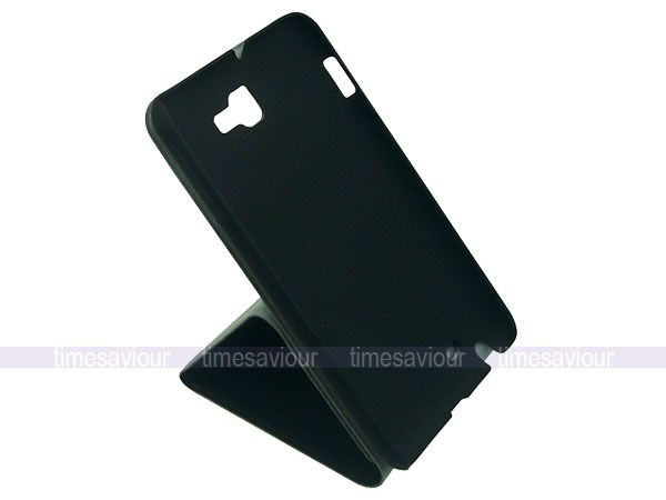 Black Vertical Slim Leather Flip Case Cover Stand for Samsung Galaxy