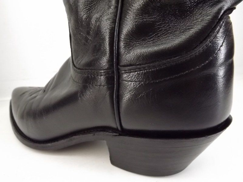 Womens cowboy boots black leather Justin 7 A classic western